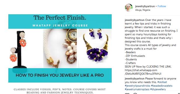 Screenshot-2018-5-7 Sarah C (Jewelry by Artrun) ( jewelrybyartrun) • Instagram photos and videos